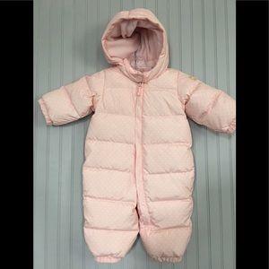 267f0ea78 Baby Gap Pink Polka Dot Down Feathers Snowsuit